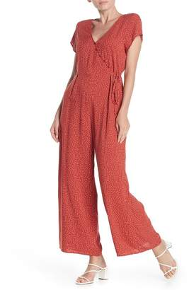 Abound Button V-Neck Polka Dot Jumpsuit
