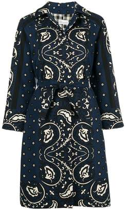 RED Valentino loose fit printed coat
