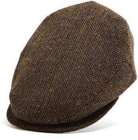Lock & Co Hatters Lock and Co Brown Donegal Newsboy Drifter Cap
