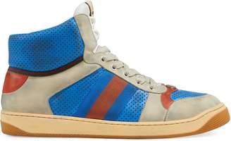 Gucci Men's Screener leather high-top sneaker