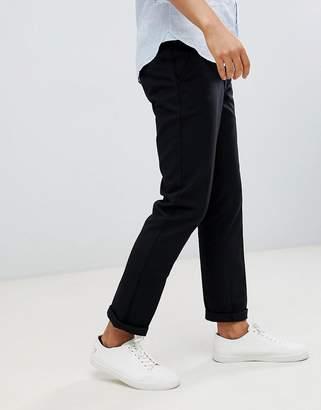 Farah Elm hopsack pants in black