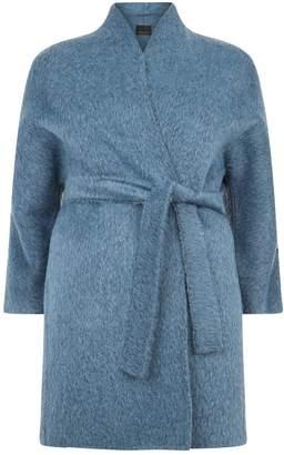 Marina Rinaldi Alpaca-Wool Belted Coat