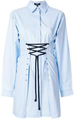 Versus waist-tied shirt dress