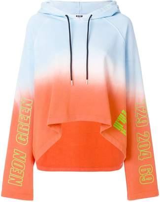 MSGM gradient a-line hoodie