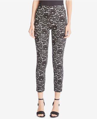 Karen Kane Lace-Print Skinny Pants