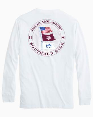 Southern Tide Gameday Nautical Flags Long Sleeve T-shirt - Texas A&M University
