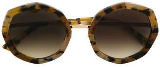 Face À Face tortoiseshell round sunglasses