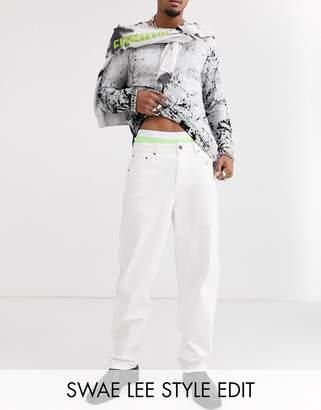 Asos Design DESIGN baggy jeans in white