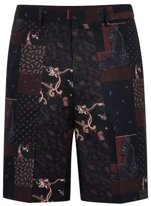 Topman Mens Multi Paisley Print Smart Shorts