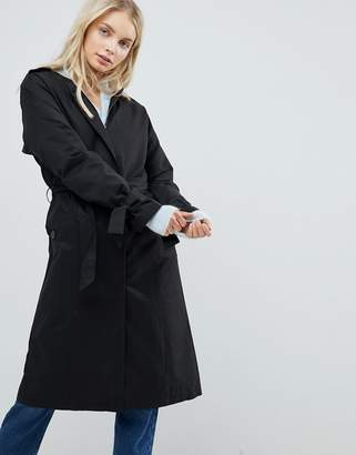 Only Cecile Collarless Trench Coat