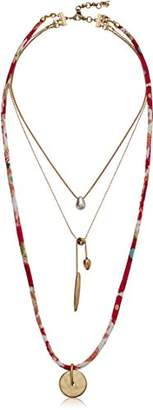 Lucky Brand Women's Fabric Layer Necklace