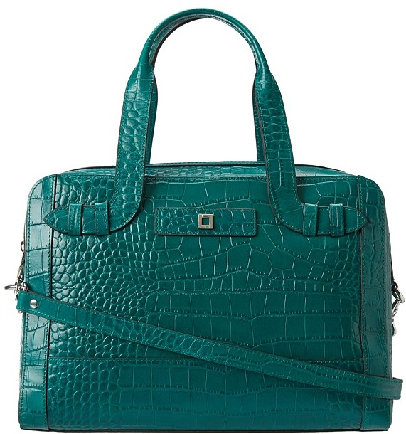 Lodis Century Blvd Camille Satchel (Teal) - Bags and Luggage