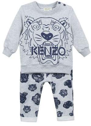 Kenzo Tiger Icon Sweatshirt w/ Matching Pants, Size 12-18 Months