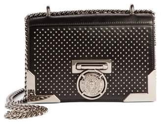Balmain Baby Box Studded Leather Shoulder Bag