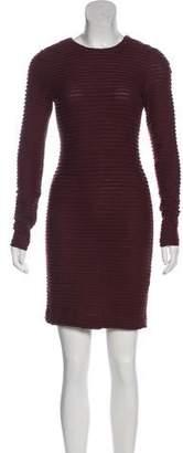 Kimberly Ovitz Ruffled Long Sleeve Dress