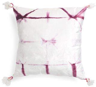 Made In India 26x26 Tie Dye Velvet Pillow
