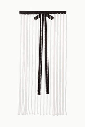 Christopher Kane Faux Pearl And Grosgrain Belt - Cream