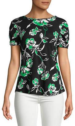 Isaac Mizrahi IMNYC Shirred Short-Sleeve Top