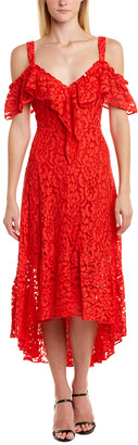 BCBGMAXAZRIA Lace Midi Dress