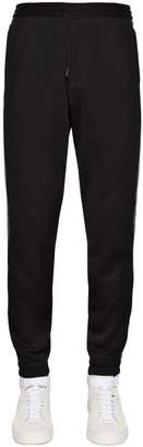 Ermenegildo Zegna Couture Logo Tape Cotton Track Pants