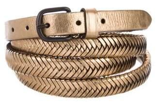 3.1 Phillip Lim Metallic Wrap-Around Belt