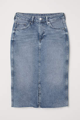 5f425ed2b5 Knee Length Denim Skirt - ShopStyle UK