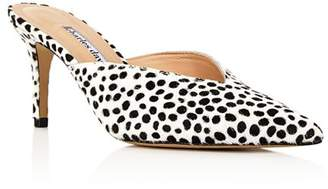 Charles David Women's Askan Snow Leopard Mid-Heel Mules