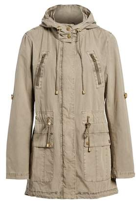 Levi's Parachute Hooded Cotton Utility Jacket