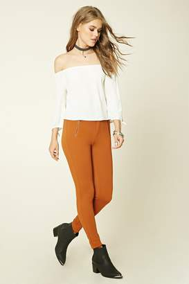 Forever 21 Skinny-Fit Zip Pants