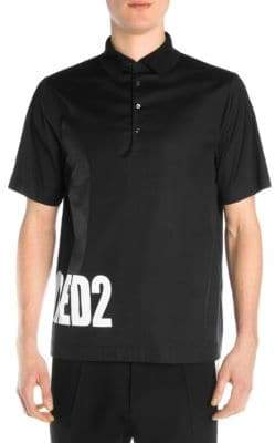 DSQUARED2 Logo Poplin Polo Shirt