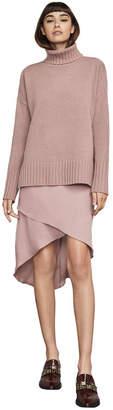 BCBGMAXAZRIA Astrella Turtleneck High-Low Dress