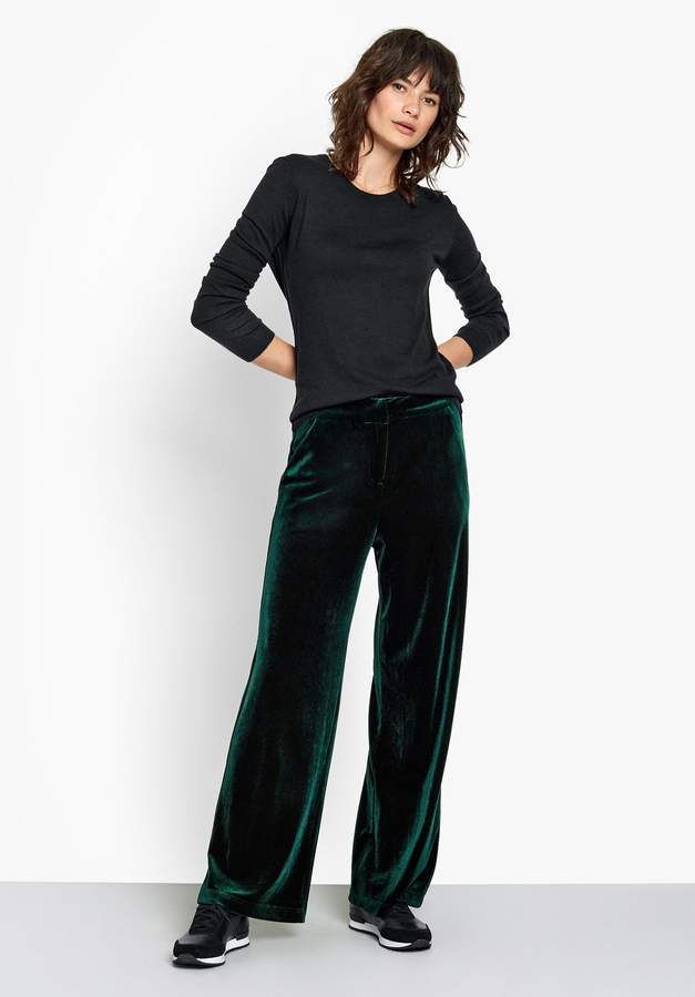 Wide Velour Trousers
