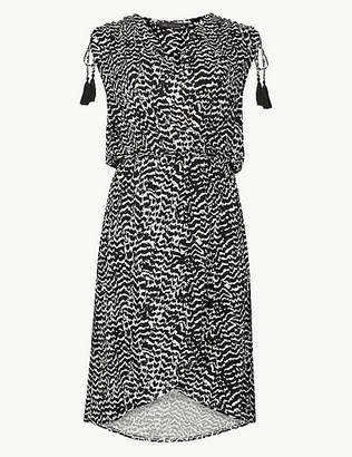 Marks and Spencer Jersey Print Wrap Beach Dress