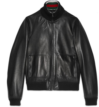Leather bomber jacket $3,380 thestylecure.com
