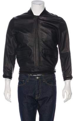 Maison Margiela Calfskin Zip-Up Jacket