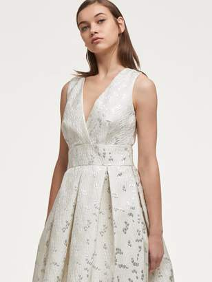 DKNY Textured Fit-And- Flare Dress