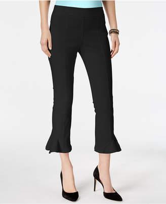 INC International Concepts I.n.c. Ruffled-Hem Cropped Pants, Created for Macy's