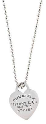 Tiffany & Co. & Co. Return To Heart Tag Pendant Necklace