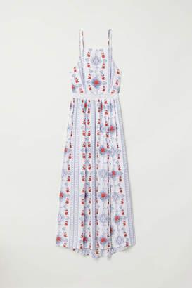 H&M Patterned Maxi Dress - White/blue patterned - Women