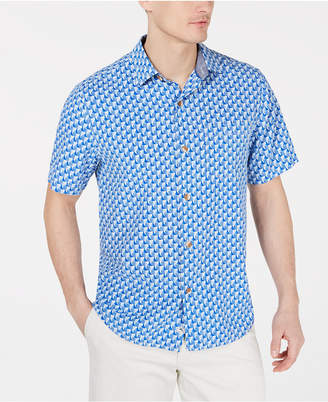 dbac9bac Tommy Bahama Men's Pacific Classic Fit Geometric Silk Camp Shirt