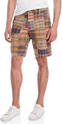 Tailor Vintage Plaid Pathwork Shorts