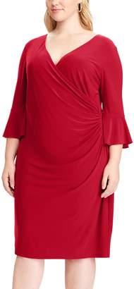 Chaps Plus Size Ruffle-Sleeve Sheath Dress