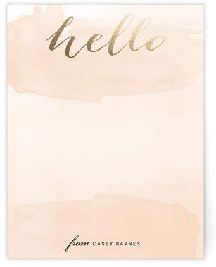 Hello Friend Foil-Pressed Personalized Stationery