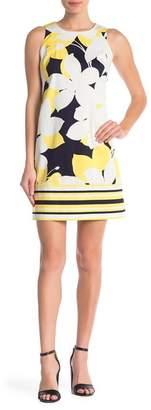 London Times Sleeveless Shift Dress