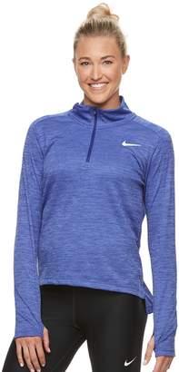 Nike Women's Pacer 1/2-Zip Thumb-Hole Running Top
