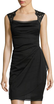 Scarlett Sleeveless Lace-Shoulder Dress $80 thestylecure.com