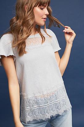 Deletta Linen & Lace Tee $58 thestylecure.com