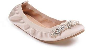 Badgley Mischka Sasha Embellished Flat