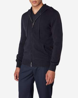 N.Peal Hooded Zipped Cashmere Top