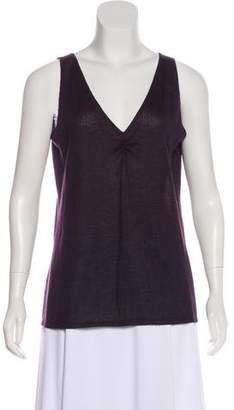 Brunello Cucinelli Cashmere & Silk-Blend Sleeveless Top